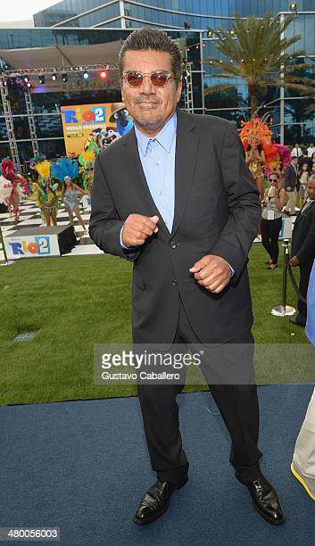 George Lopez Attends The Rio 2 Premiere At Fontainebleau Miami Beach On March 21