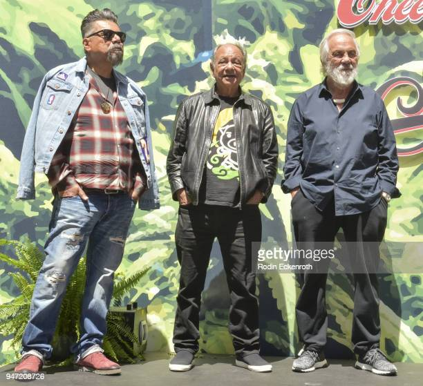 George Lopez Cheech Marin and Tommy Chong onstage at the Key to The City of West Hollywood Award Ceremony at The Roxy Theatre on April 16 2018 in...