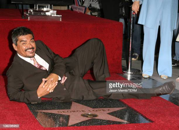 George Lopez during Comedian George Lopez Honored with a Star on the Hollywood Walk of Fame at Walk Of Fame in Hollywood California United States