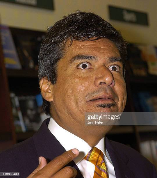 """George Lopez during George Lopez Signs his New Book """"Why Are You Crying"""" at Barnes and Noble at The Grove in Los Angeles, California, United States."""