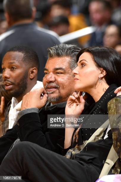 George Lopez is seen at the game between the Los Angeles Lakers and the Chicago Bulls on January 15 2019 at STAPLES Center in Los Angeles California...