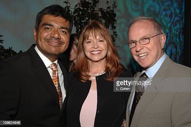 George Lopez Kathy Prinze and Ron DeBlasio during AOL In2TV Launch Inside at Museum of Television in Los Angeles California United States