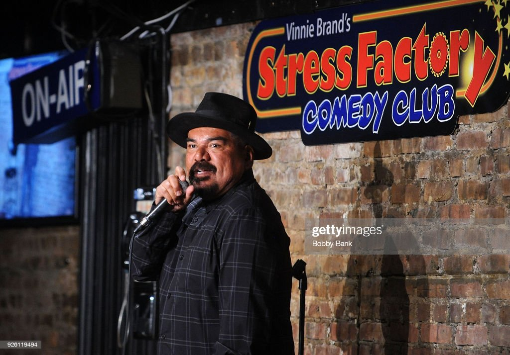 George Lopez Performs At The Stress Factory Comedy Club