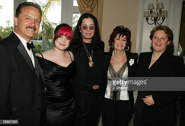 George Lozano, Executive Director of Covenant House, with Kelly Osbourne, Ozzy Osbourne, Sharon Osbourne, and Sr. Tricia Cruise during the Covenant...