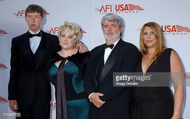 George Lucas and children during 33rd AFI Life Achievement Award Honoring George Lucas at Kodak Theatre in Hollywood California United States
