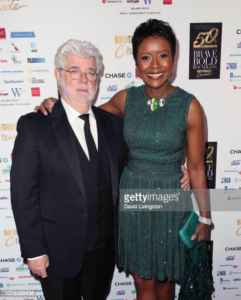 George Lucas and Mellody Hobson attend the Brotherhood Crusade's 50th Pioneer of African American Achievement Award Dinner at The Beverly Hilton...