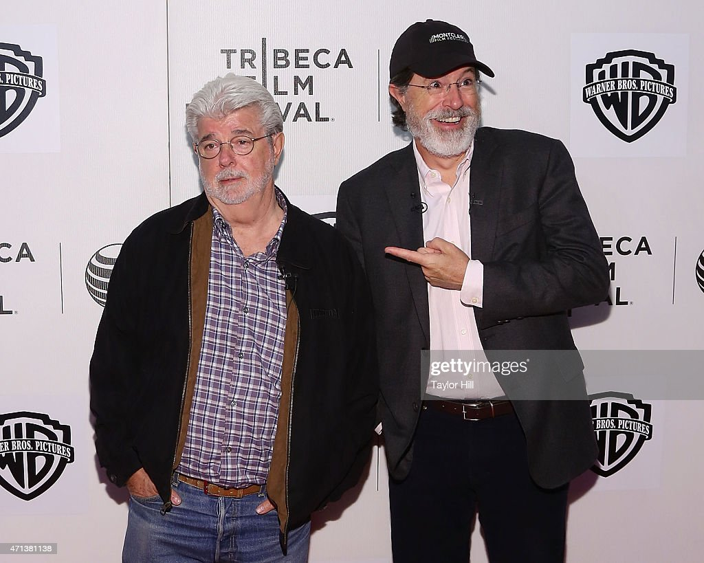 c62d08e211 2015 Tribeca Film Festival - Tribeca Talks  Directors Series  George Lucas  with Stephen Colbert