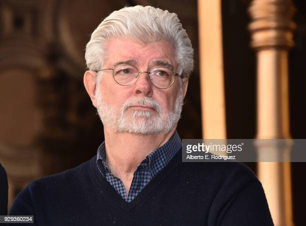 George Lucas attends Mark Hamill Star Ceremony on the Hollywood Walk of Fame on March 8, 2018 in Hollywood, California.