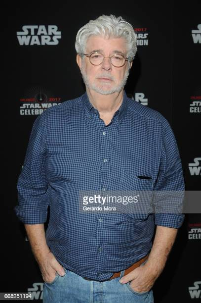George Lucas attends the 40 Years of Star Wars panel during the 2017 Star Wars Celebrationat Orange County Convention Center on April 13 2017 in...