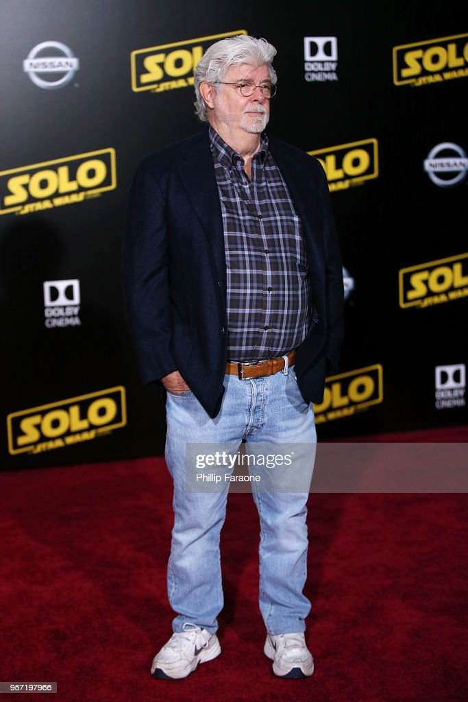 George Lucas attends the premiere of Disney Pictures and Lucasfilm's 'Solo: A Star Wars Story' on May 10, 2018 in Hollywood, California.