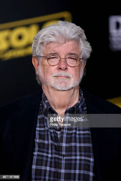 """George Lucas attends the premiere of Disney Pictures and Lucasfilm's """"Solo: A Star Wars Story"""" on May 10, 2018 in Hollywood, California."""