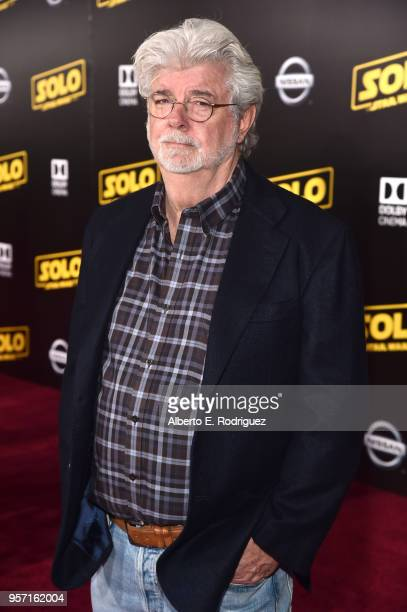 """George Lucas attends the world premiere of """"Solo: A Star Wars Story"""" in Hollywood on May 10, 2018."""