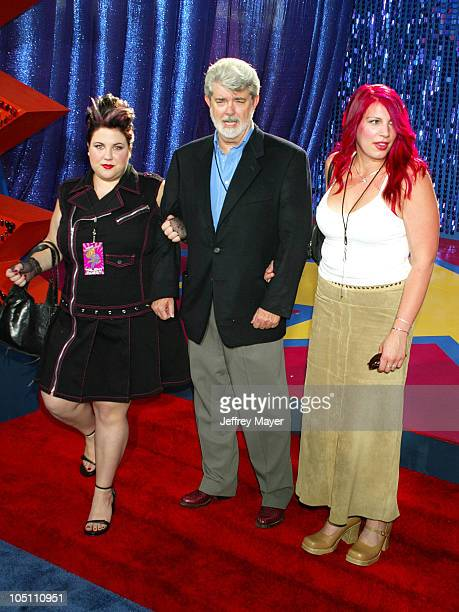 George Lucas daughters during 2003 MTV Movie Awards Arrivals at The Shrine Auditorium in Los Angeles California United States