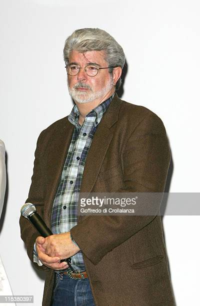 George Lucas during 2005 Cannes Film Festival Trophy of the Festival at Queen Mary 2 in Cannes France