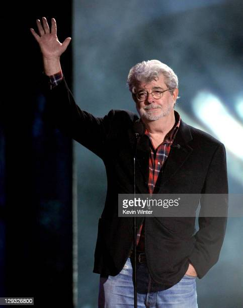 George Lucas speaks onstage during Spike TV's 'SCREAM 2011' awards held at Universal Studios on October 15 2011 in Universal City California