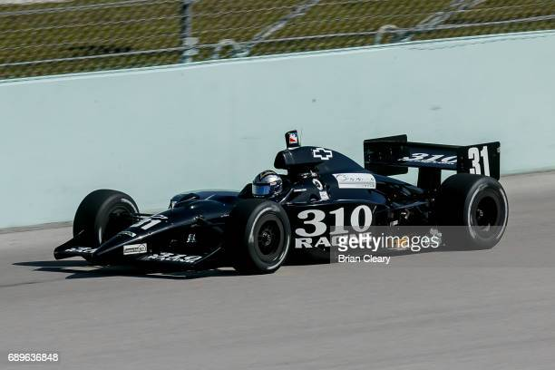 George Mack drives the G Force/Chevrolet on the track during the 20th Anniversary Grand Prix of Miami IRL IndyCar race at Homestead Miami Speedway on...