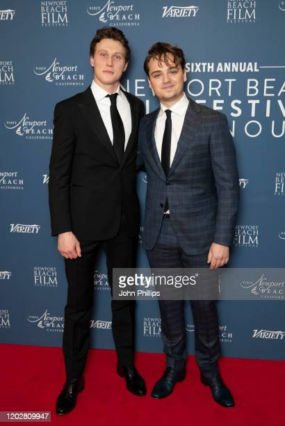 George MacKay and Dean Charles Chapman attend the Newport Beach Film Festival UK Honours 2020 at The Langham Hotel on January 29, 2020 in London,...