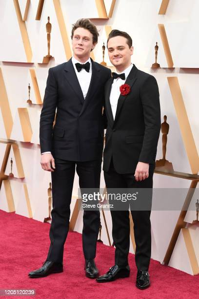 George MacKay and DeanCharles Chapman attends the 92nd Annual Academy Awards at Hollywood and Highland on February 09 2020 in Hollywood California