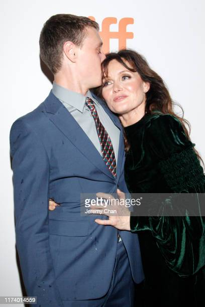"""George MacKay and Essie Davis attend the """"True History Of Kelly Gang"""" premiere during the 2019 Toronto International Film Festival at Roy Thomson..."""
