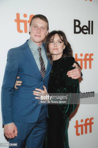 George MacKay and Essie Davis attend True History Of Kelly Gang Premiere during the 2019 Toronto International Film Festival at Roy Thomson Hall on...
