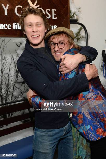 George MacKay and Tom Felton attend the Ophelia after party at Sundance Film Festival 2018 at The Grey Goose Blue Door on January 22 2018 in Park...