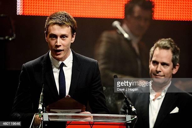 George MacKay and Tom Hollander present at the Moet British Independent Film Awards 2014 at Old Billingsgate Market on December 7 2014 in London...