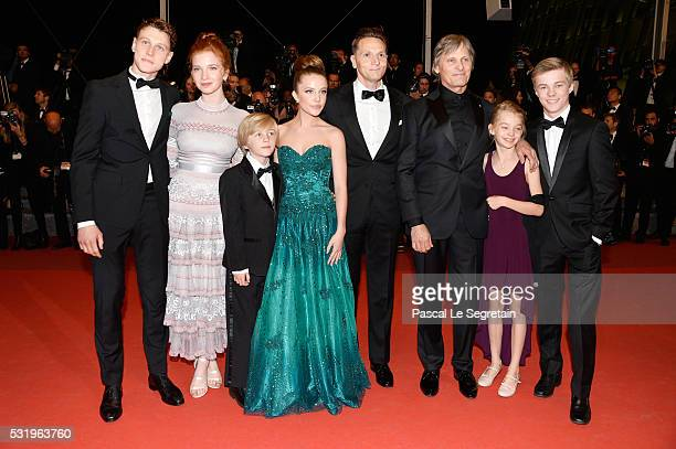 George MacKay Annalise Basso Charlie Shotwell Samantha Isler director Matt Ross Viggo Mortensen Shree Crooksand Nicholas Hamilton as they arrive for...
