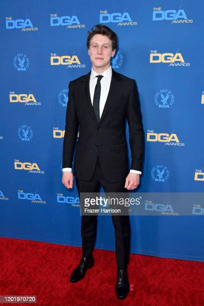 George MacKay arrives for the 72nd Annual Directors Guild Of America Awards at The Ritz Carlton on January 25, 2020 in Los Angeles, California.