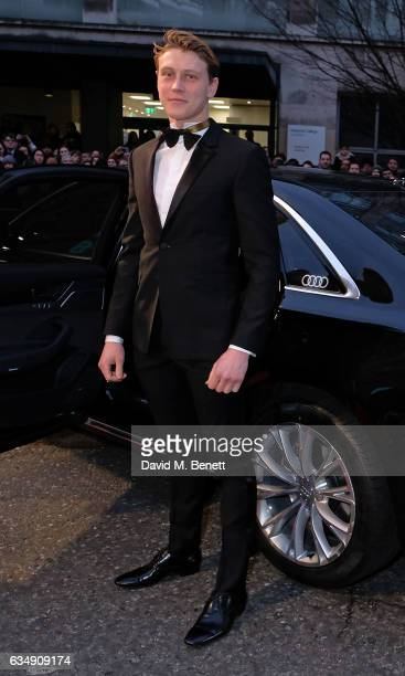 George MacKay arrives in an Audi at the EE BAFTA Film Awards at the at Royal Albert Hall on February 12 2017 in London England
