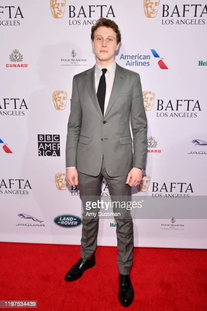 George MacKay attends The BAFTA Los Angeles Tea Party at Four Seasons Hotel Los Angeles at Beverly Hills on January 04, 2020 in Los Angeles,...