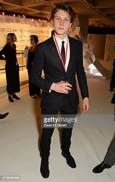 George MacKay attends the Bright Young Things Gala 2016 a Young Patrons of the National Theatre event in support of emerging talent at The National...