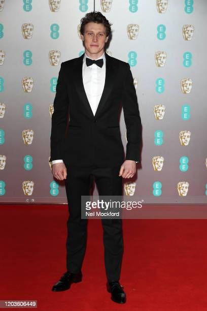 George MacKay attends the EE British Academy Film Awards 2020 at Royal Albert Hall on February 02, 2020 in London, England.