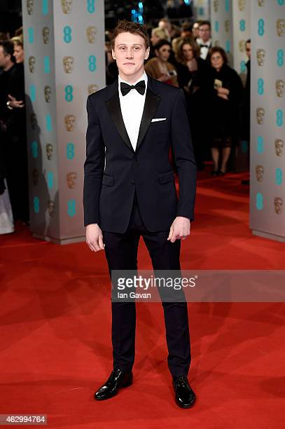 George MacKay attends the EE British Academy Film Awards at The Royal Opera House on February 8 2015 in London England