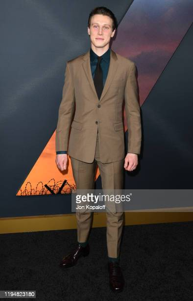 George MacKay attends the premiere of Universal Pictures' 1917 at TCL Chinese Theatre on December 18 2019 in Hollywood California