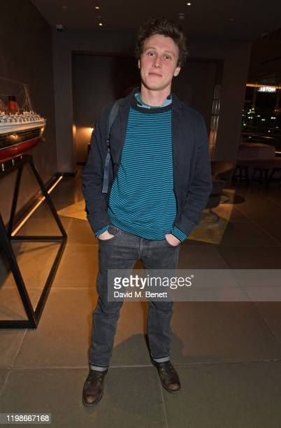 "George MacKay attends the press night after party for ""Endgame"" at Sea Containers on February 4, 2020 in London, England."