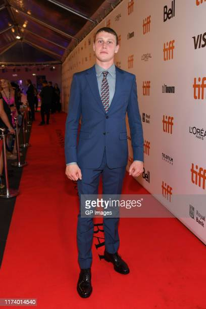 George MacKay attends the True History Of Kelly Gang premiere during the 2019 Toronto International Film Festival at Roy Thomson Hall on September 11...