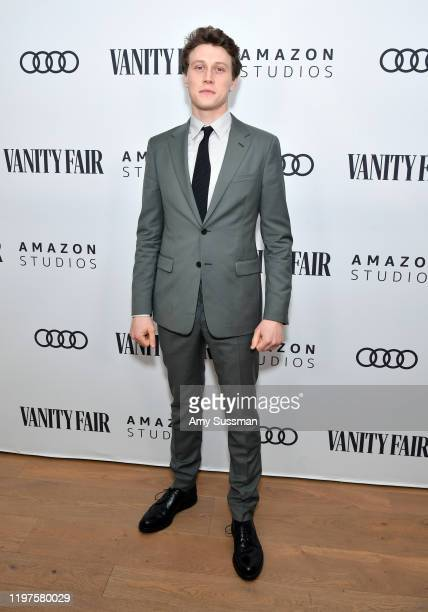 George MacKay attends The Vanity Fair x Amazon Studios 2020 Awards Season Celebration at San Vicente Bungalows on January 04, 2020 in West Hollywood,...