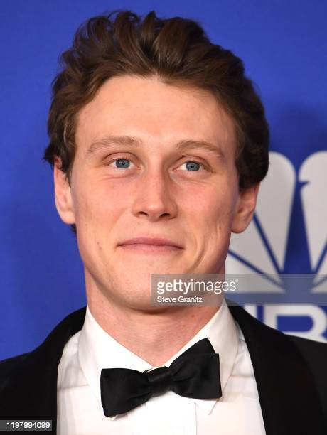 George MacKay poses in the press room at the 77th Annual Golden Globe Awards at The Beverly Hilton Hotel on January 05 2020 in Beverly Hills...