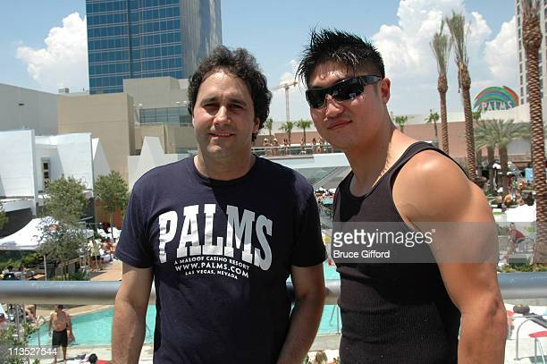 George Maloof and Brian Tee during Palms New $40 Million Pool Party Celebration Hosted by 944 Magazine at The Palms Casino Resort in Las Vegas Nevada...