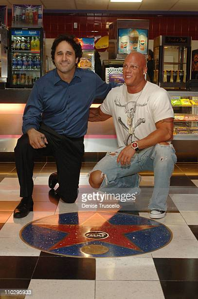George Maloof and Johnny Brenden during George Maloof Star Dedication at Brenden Theaters at The Palms Hotel and Casino Resort at Brenden Theaters at...