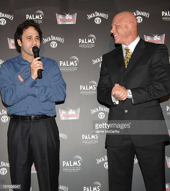George Maloof and Johnny Brenden during Hugh Hefner Receives Star On Walk Of Fame At Brenden Theater In The Palms Hotel and Casino Hosted by Jack...