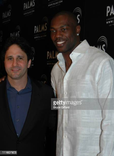 George Maloof and Terrell Owens during 1st Annual Fantasy Suite Block Party at Palms Casino Resort Fantasy Tower in Las Vegas NV United States