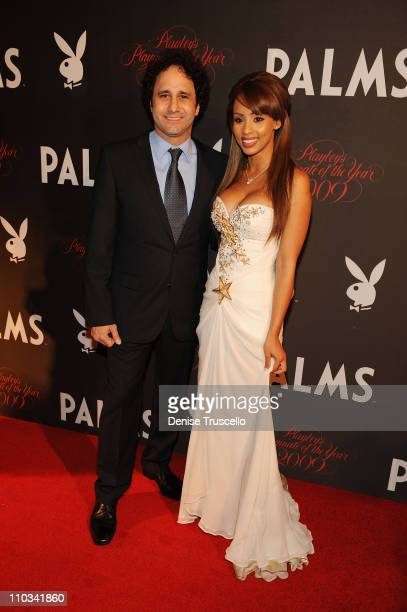George Maloof and the 2009 Playmate of the Year Ida Ljungqvist arrives at Playboy's 50th Annual Playmate of the Year Announcement and Celebration at...