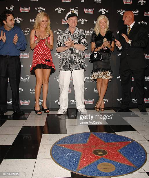 George Maloof Bridget Marquardt Hugh Hefner Holly Madison and Johnny Brenden