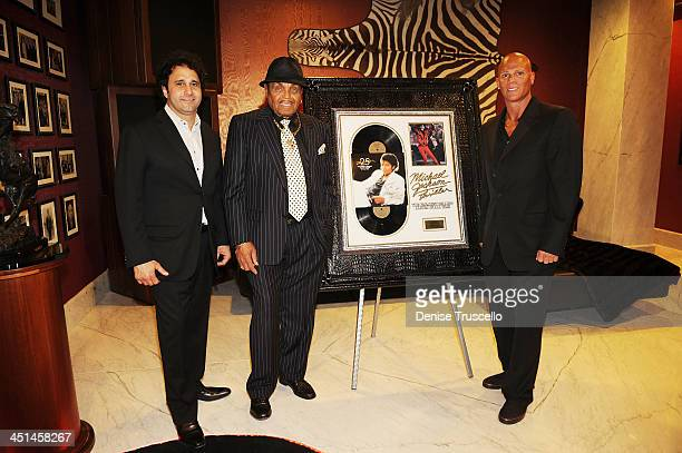 George Maloof Joe Jackson and Johnny Brenden attends the Brenden Celebrity Suites at The Palms Casino Resort on August 29 2009 in Las Vegas Nevada