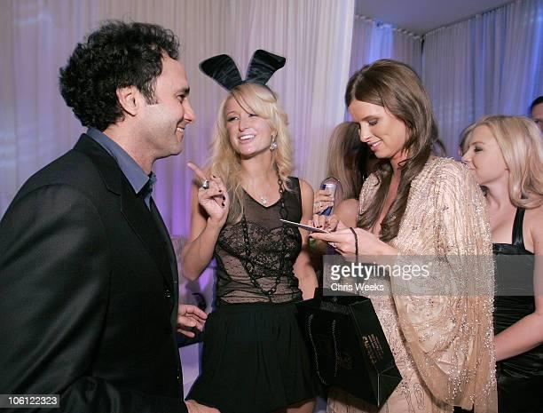 George Maloof Paris Hilton and Nicky Hilton during Pure Nightclub Hosts Nicky Hilton's Birthday Party Inside at Pure Nightclub in Las Vegas...