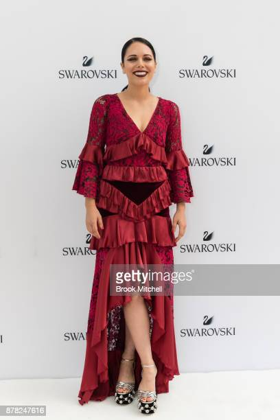 George Maple attends the Swarovski Rainbow Paradise Spring Summer 18 Collection Launch on November 24 2017 in Sydney Australia