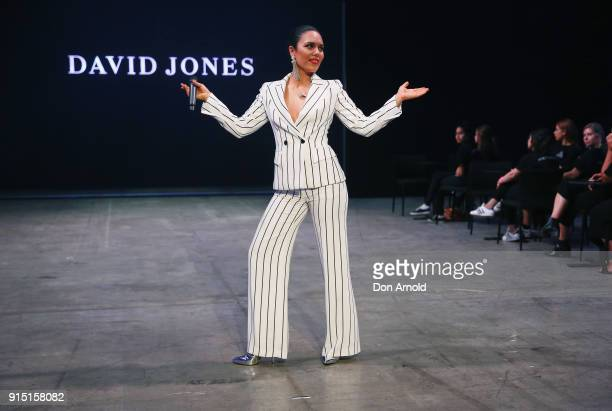 George Maple performs during the media rehearsal ahead of the David Jones Autumn Winter 2018 Collections Launch at Australian Technology Park on...