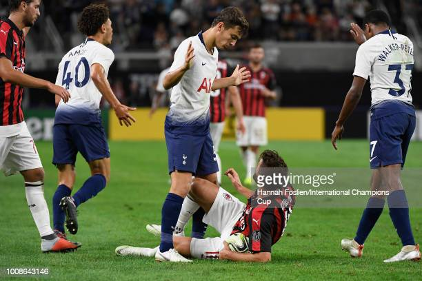 George Marsh of Tottenham Hotspur stands over Fabio Borini of AC Milan in the second half during the International Champions Cup 2018 at US Bank...