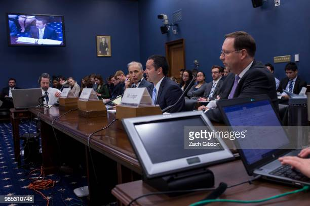 George Mason University Antonin Scalia Law School Visting Fellow Andy Keiser center testifies during a House Small Business Committee hearing on...